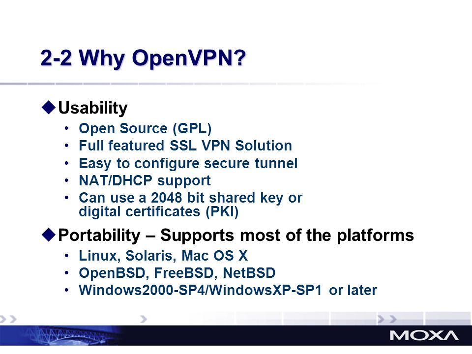 2-2 Why OpenVPN Usability