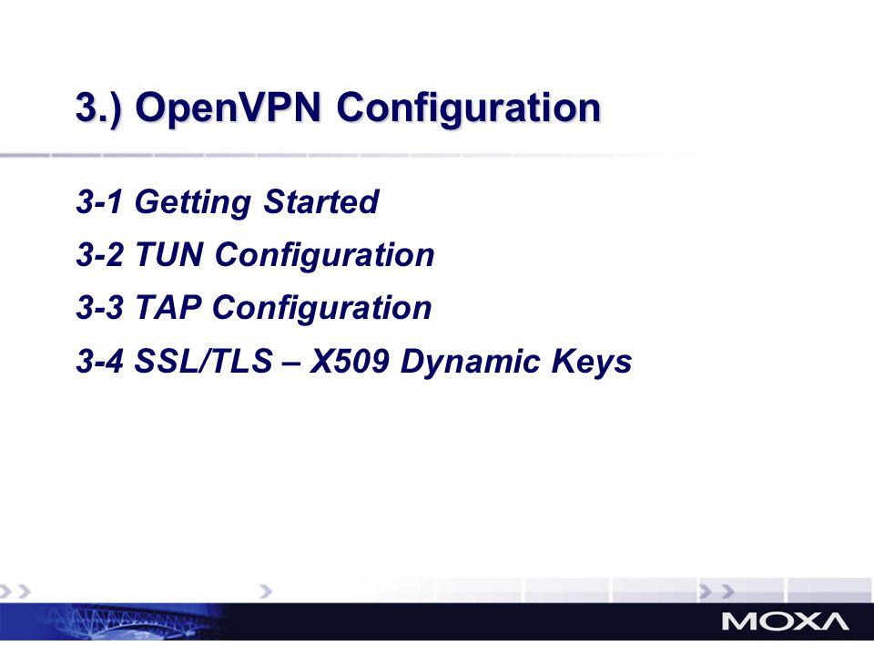 3.) OpenVPN Configuration