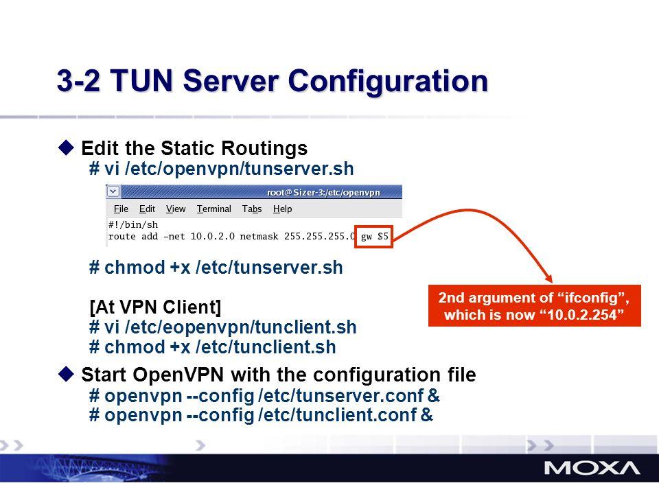 3-2 TUN Server Configuration