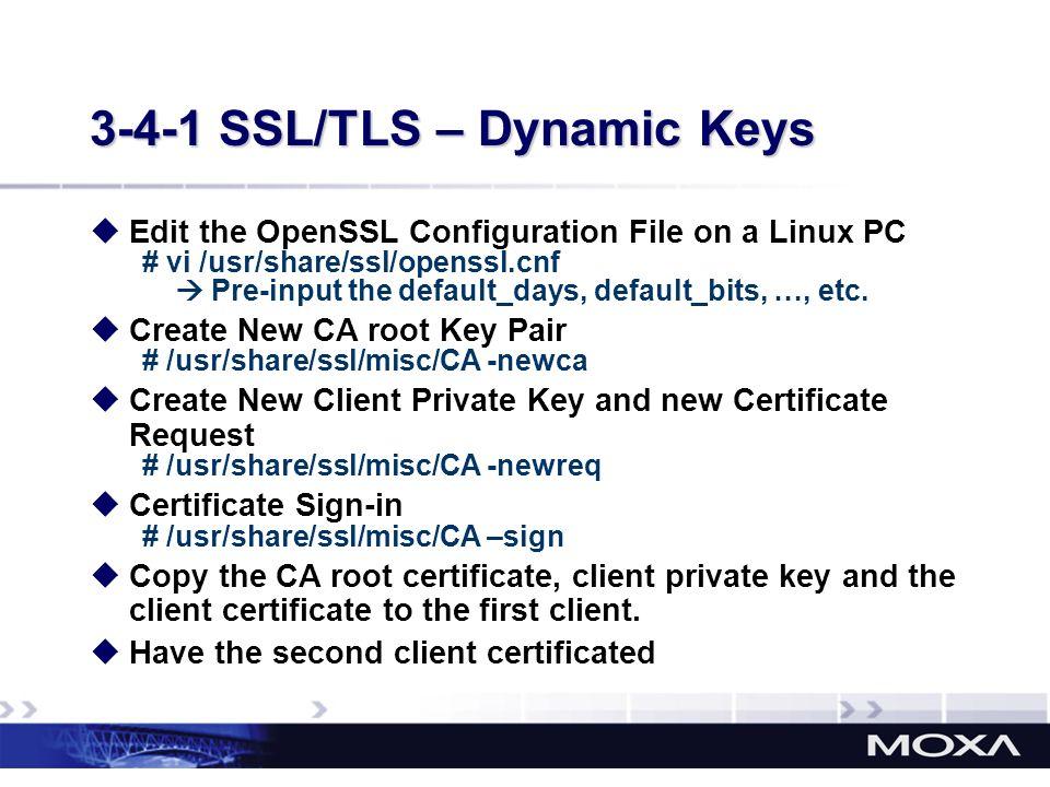 3-4-1 SSL/TLS – Dynamic Keys