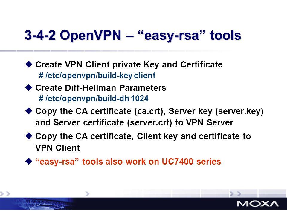 3-4-2 OpenVPN – easy-rsa tools