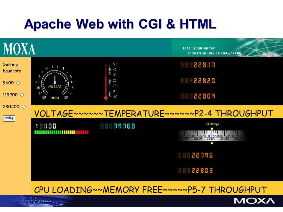 Apache Web with CGI & HTML