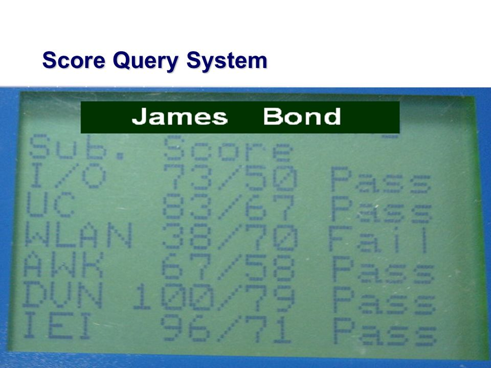 Score Query System