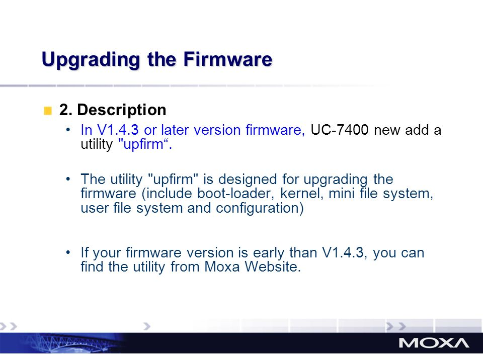 Upgrading the Firmware