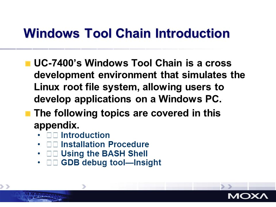 Windows Tool Chain Introduction