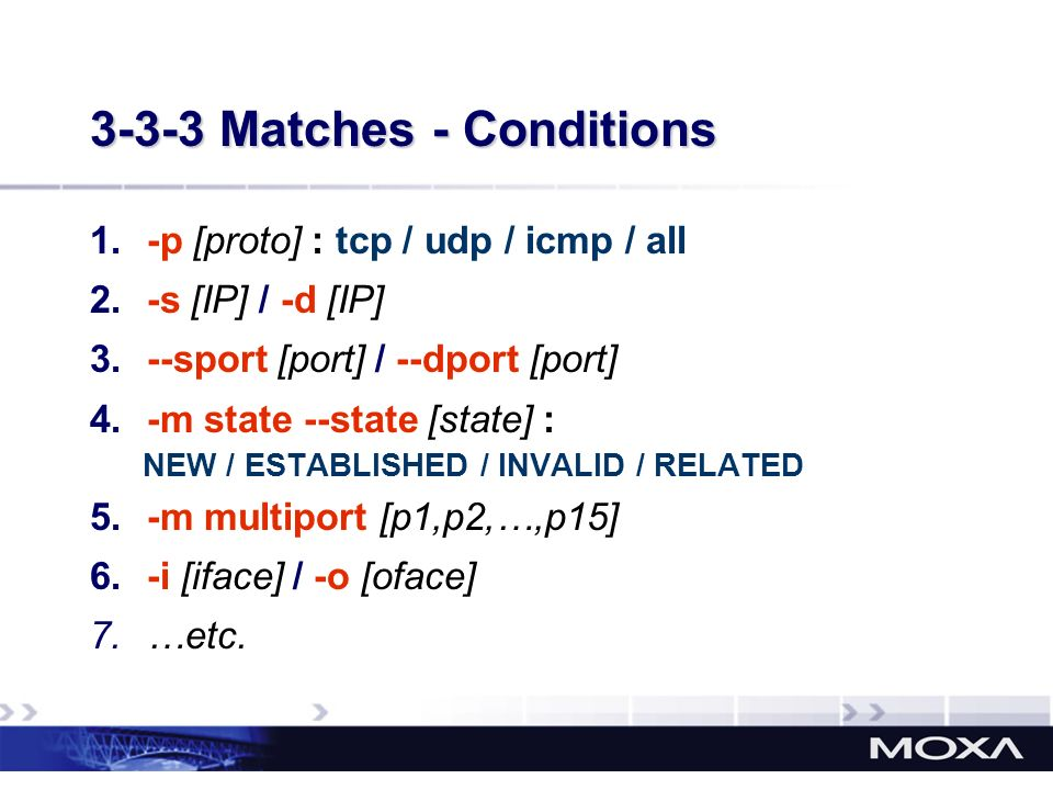3-3-3 Matches - Conditions