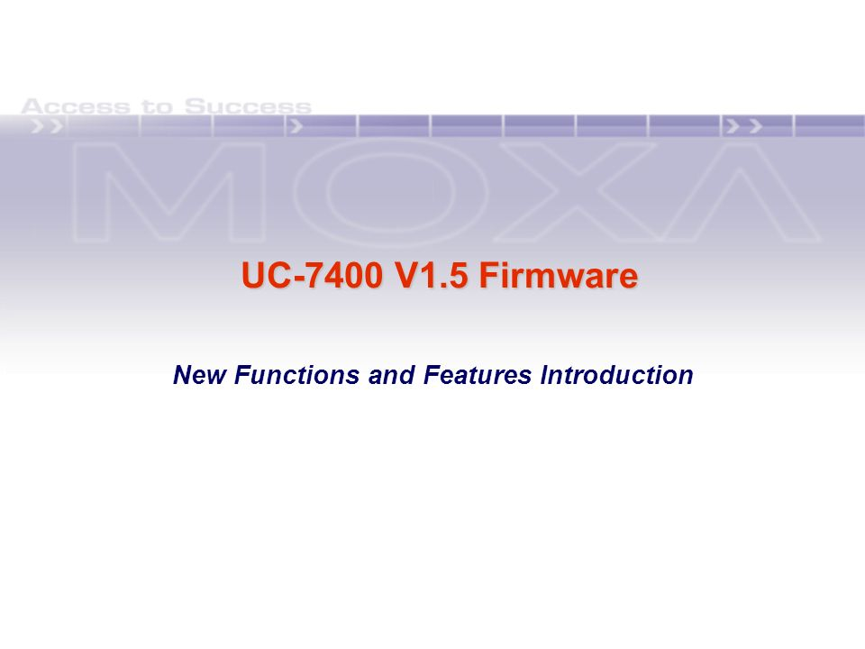 New Functions and Features Introduction