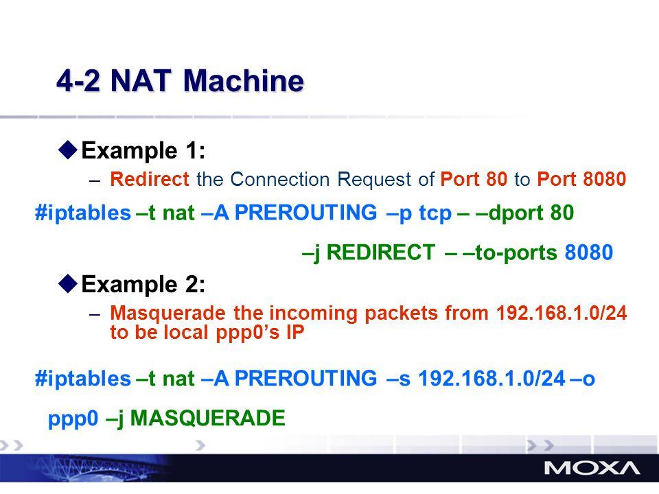 4-2 NAT Machine Example 1: Example 2:
