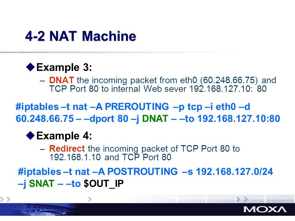 4-2 NAT Machine Example 3: Example 4: