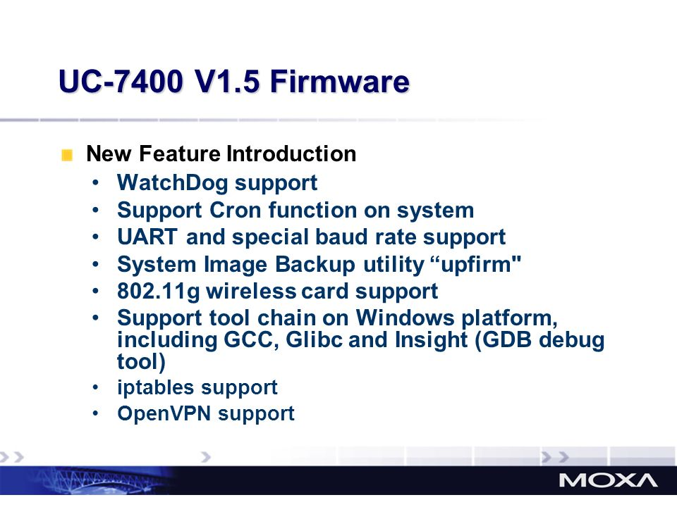 UC-7400 V1.5 Firmware New Feature Introduction WatchDog support