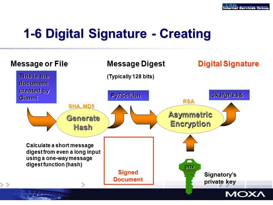1-6 Digital Signature - Creating