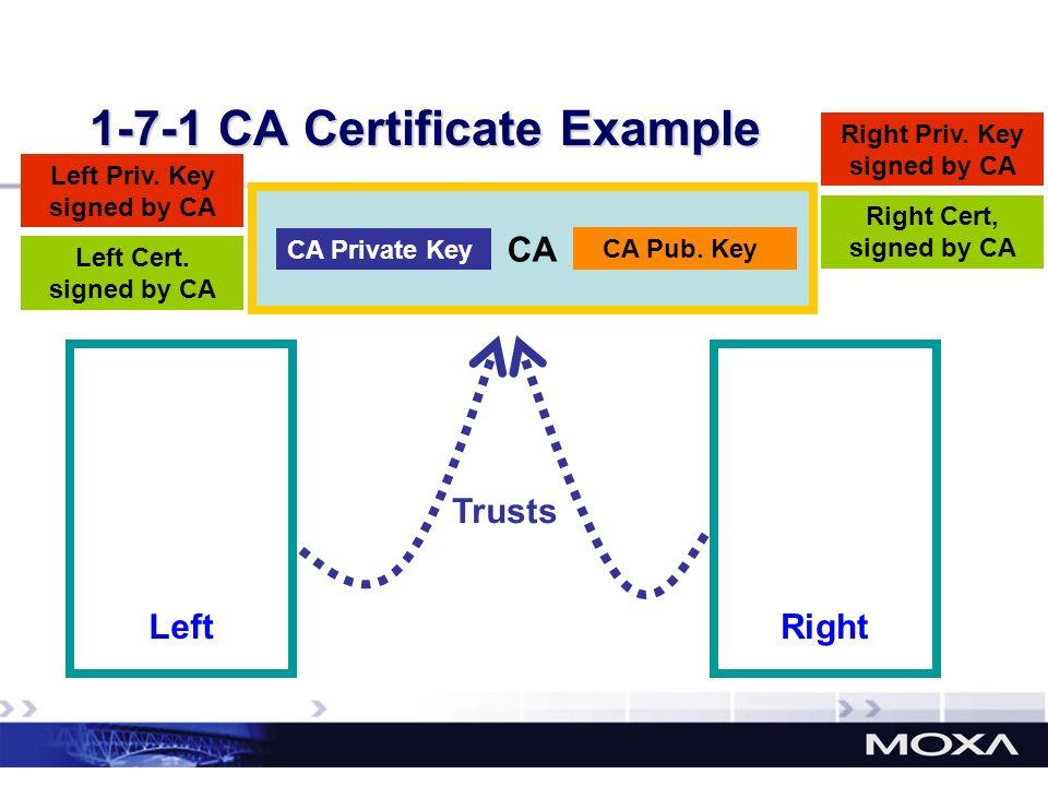 1-7-1 CA Certificate Example