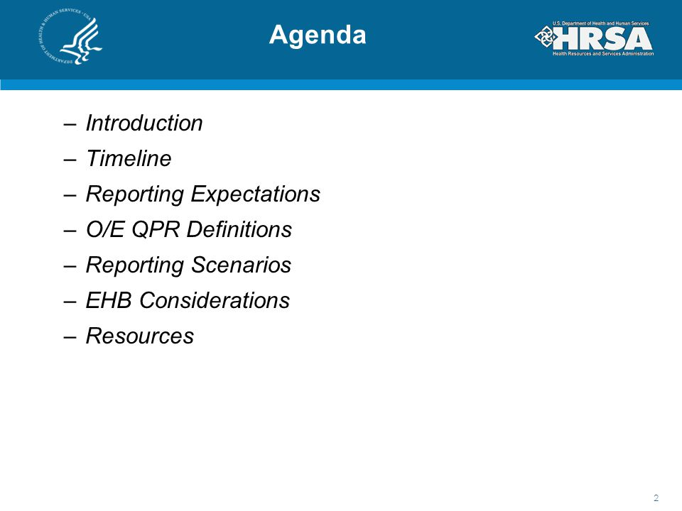 Agenda Introduction Timeline Reporting Expectations