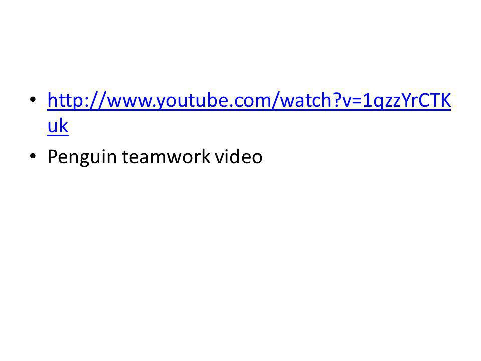http://www.youtube.com/watch v=1qzzYrCTKuk Penguin teamwork video