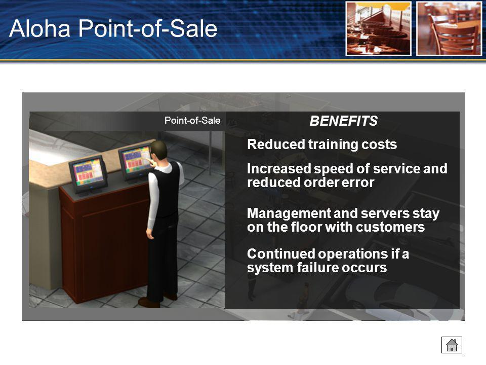Aloha Point-of-Sale BENEFITS Reduced training costs