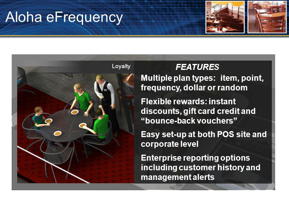 Aloha eFrequency FEATURES