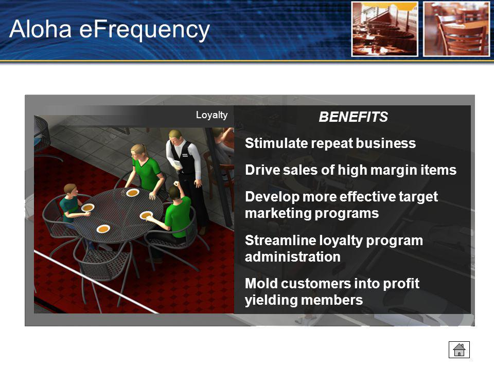 Aloha eFrequency BENEFITS Stimulate repeat business