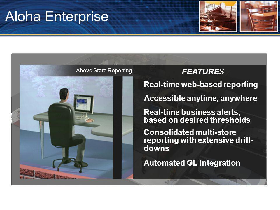 Aloha Enterprise FEATURES Real-time web-based reporting