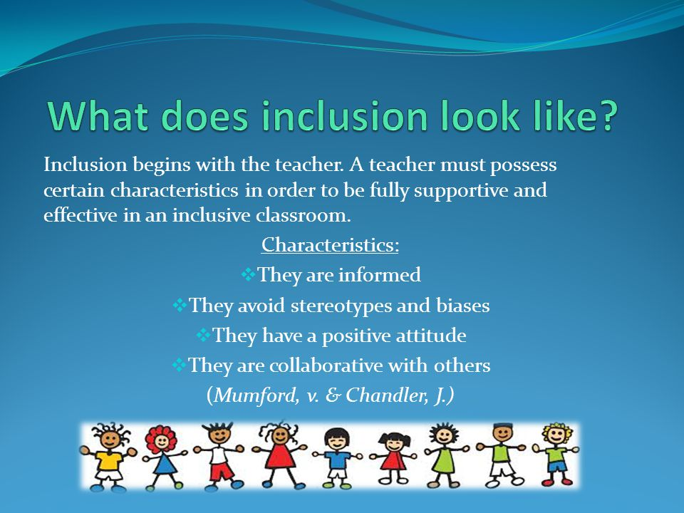 What does inclusion look like