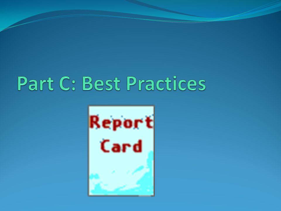 Part C: Best Practices