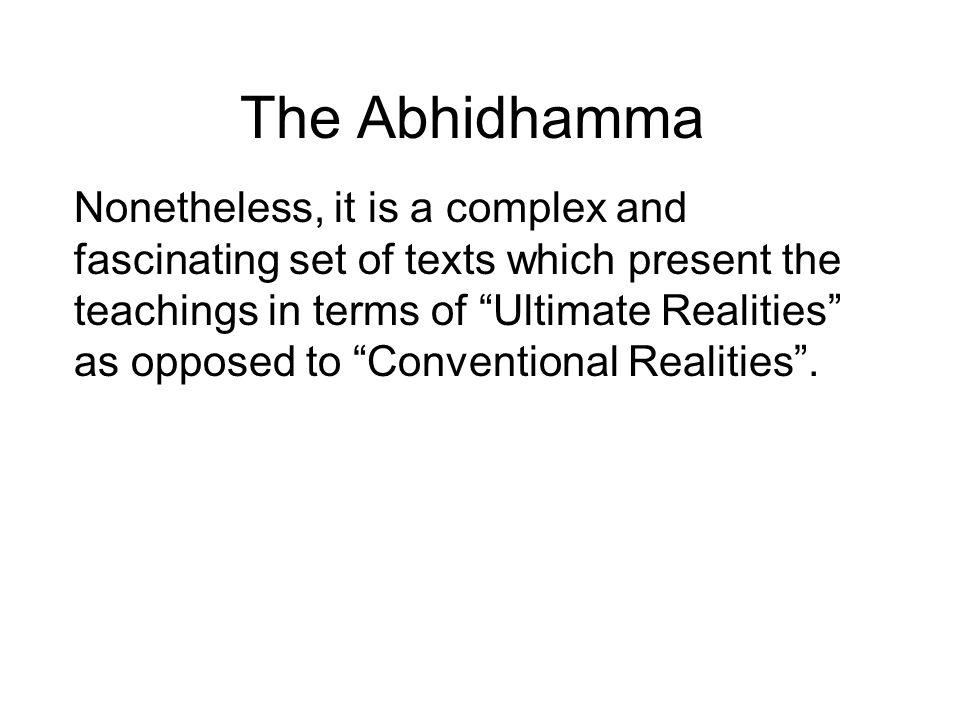 The Abhidhamma