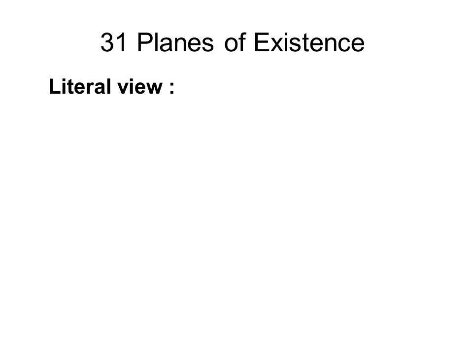 31 Planes of Existence Literal view :