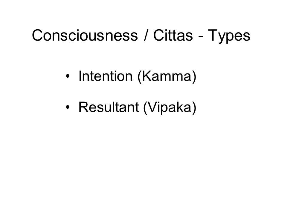 Consciousness / Cittas - Types