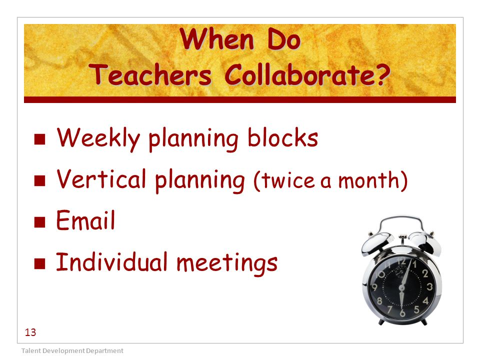When Do Teachers Collaborate