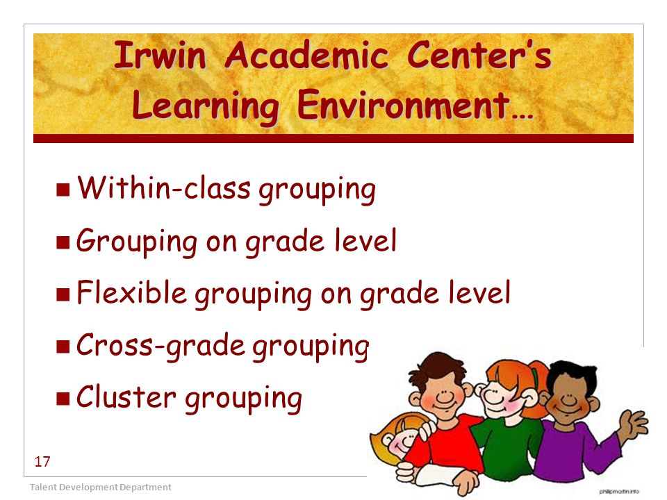 Irwin Academic Center's Learning Environment…