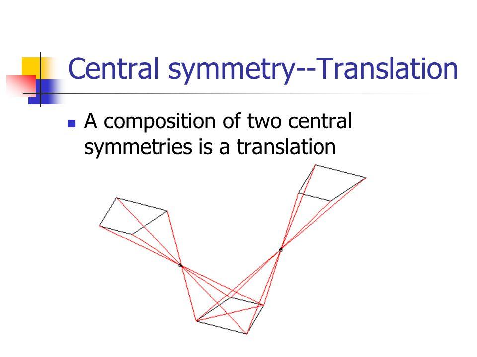 Central symmetry--Translation