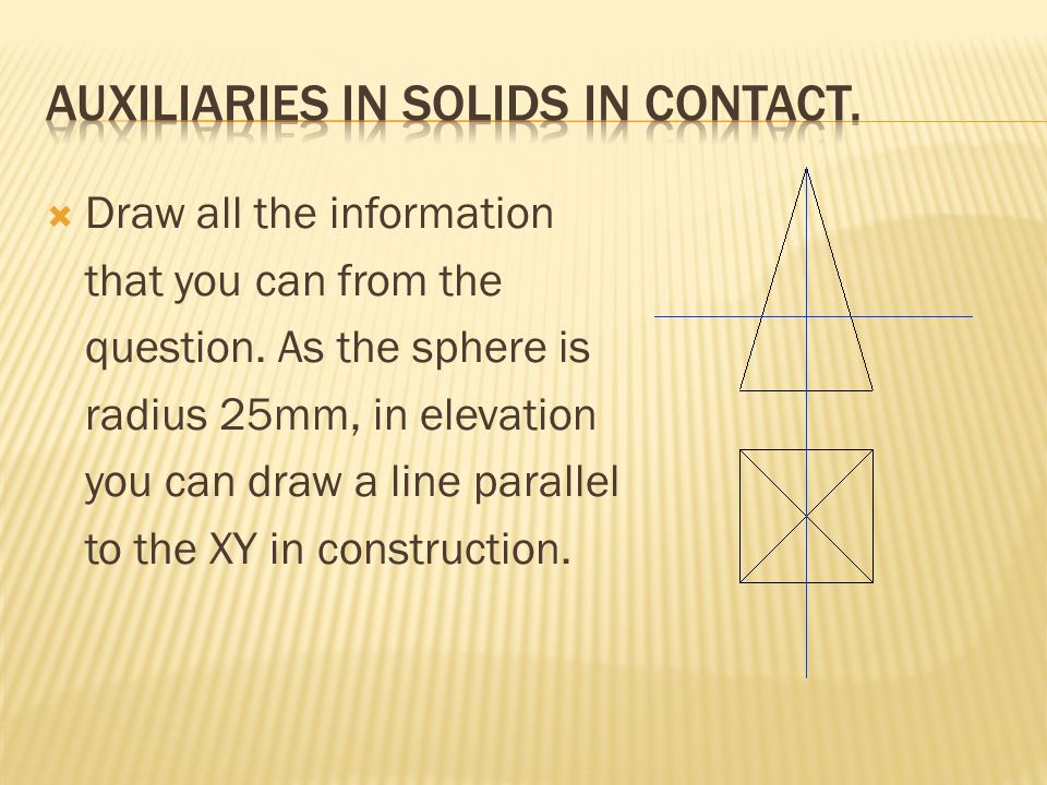 Auxiliaries in solids in contact.