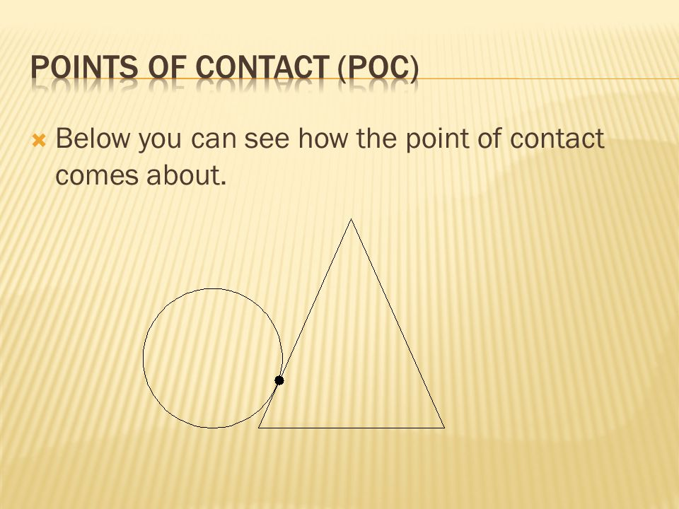 Points of contact (POC)