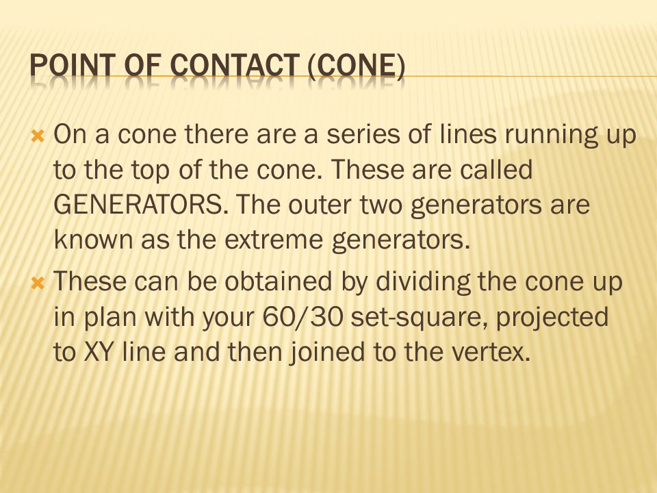 Point of contact (cone)