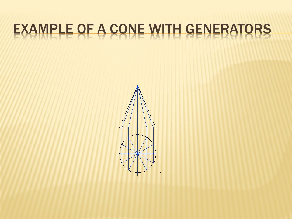 Example of a cone with generators
