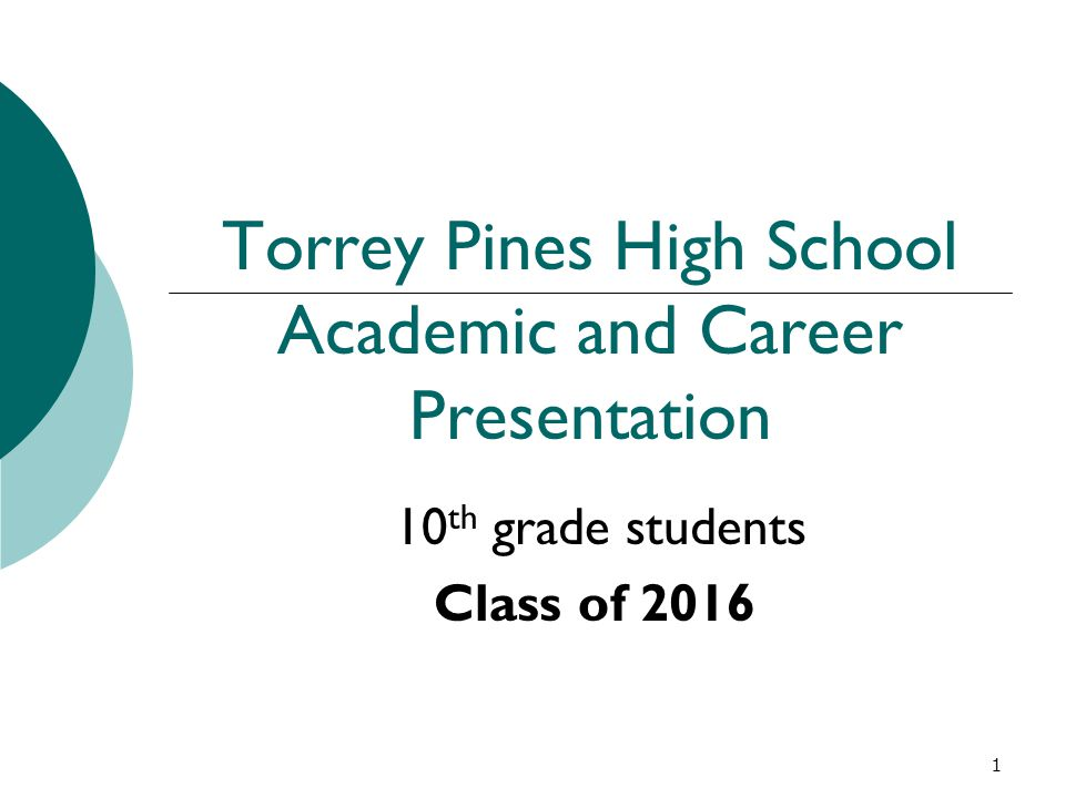 Torrey Pines High School Academic and Career Presentation