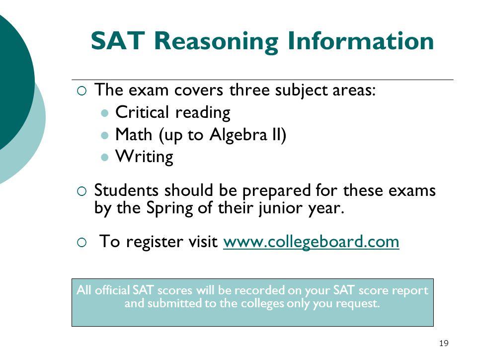 SAT Reasoning Information