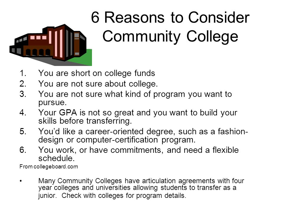 6 Reasons to Consider Community College