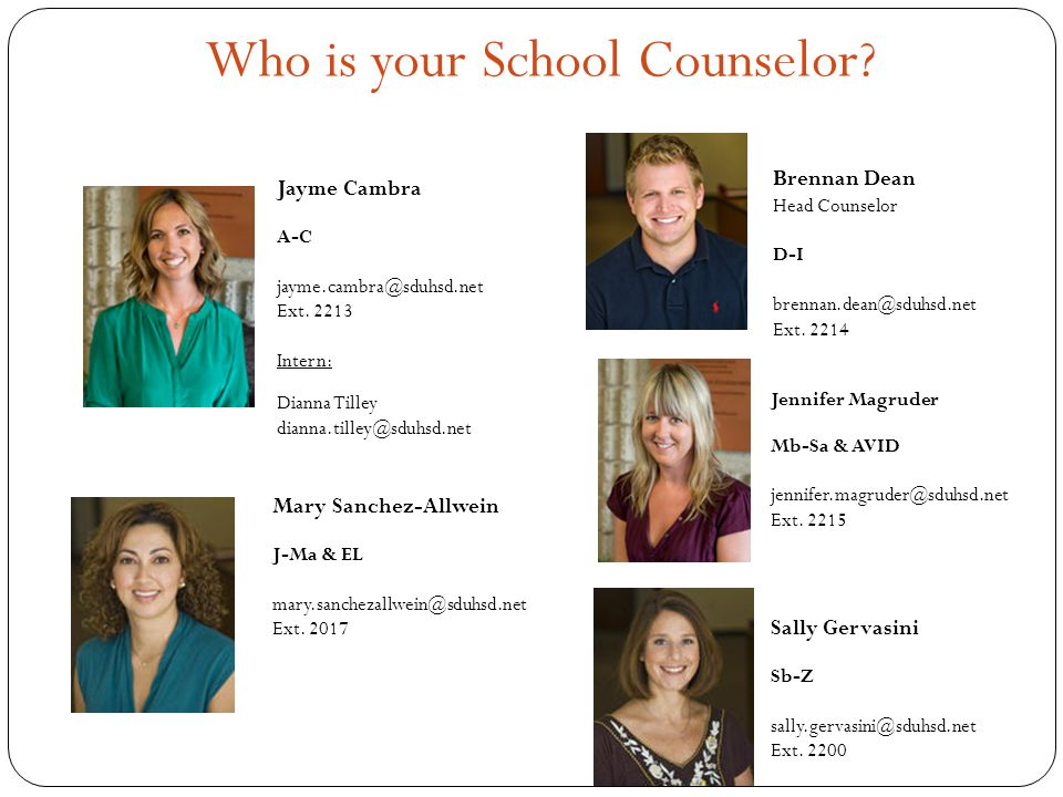 Who is your School Counselor