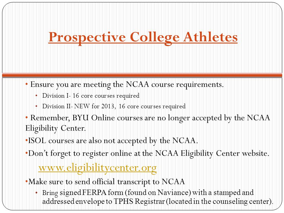 Prospective College Athletes