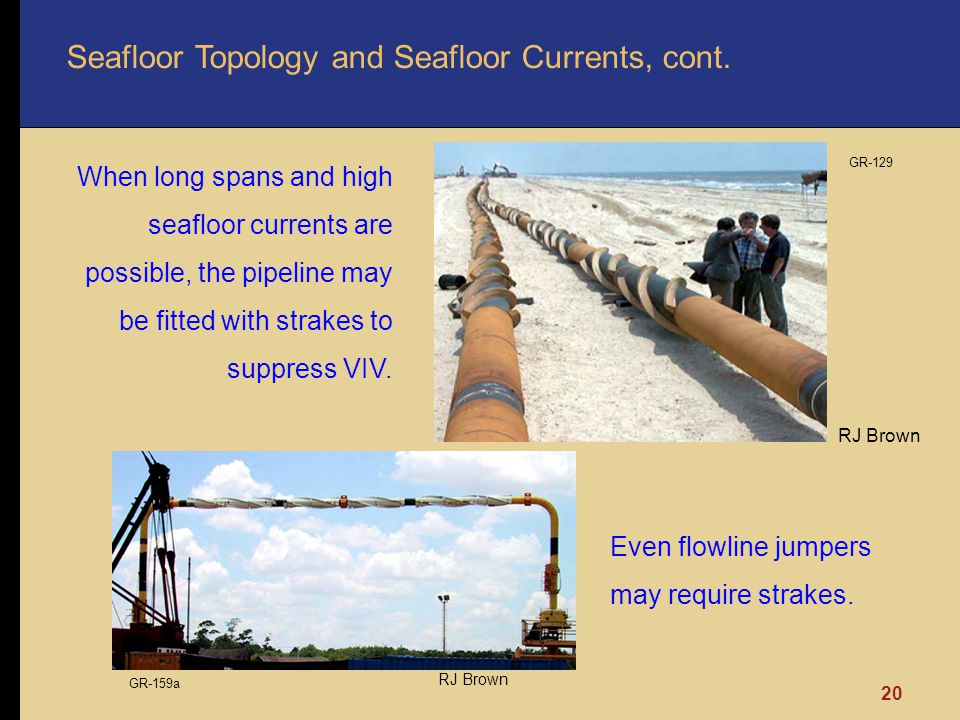 Seafloor Topology and Seafloor Currents, cont.