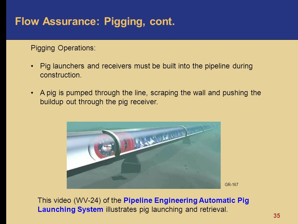 Flow Assurance: Pigging, cont.
