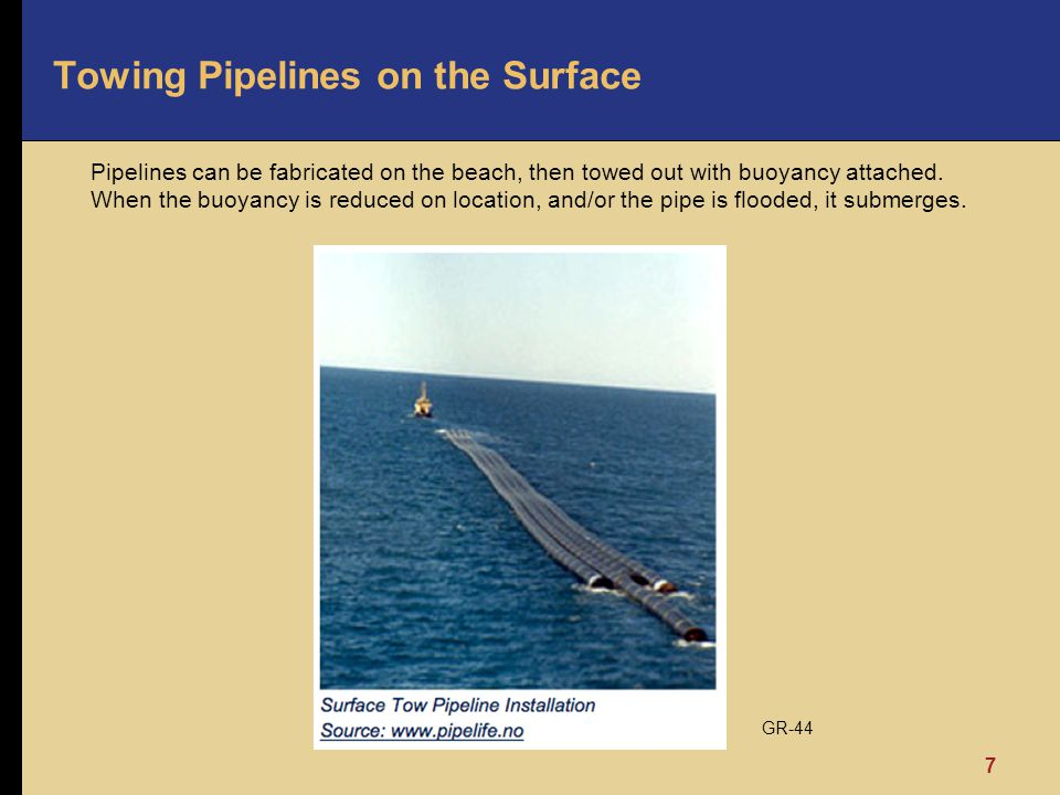 Towing Pipelines on the Surface