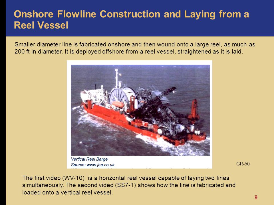 Onshore Flowline Construction and Laying from a Reel Vessel