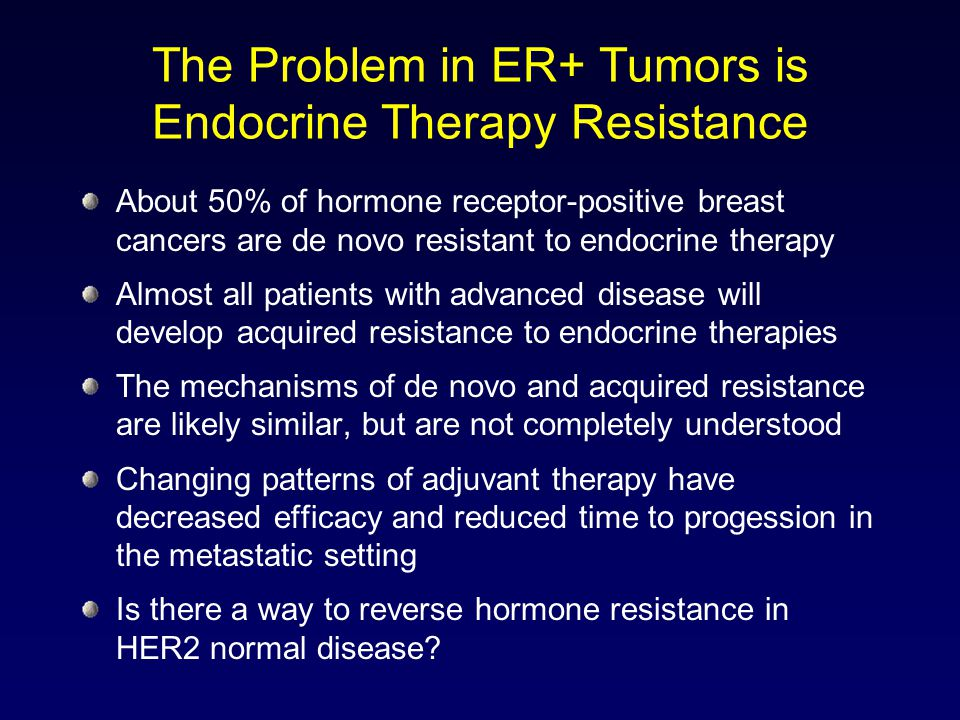 The Problem in ER+ Tumors is Endocrine Therapy Resistance