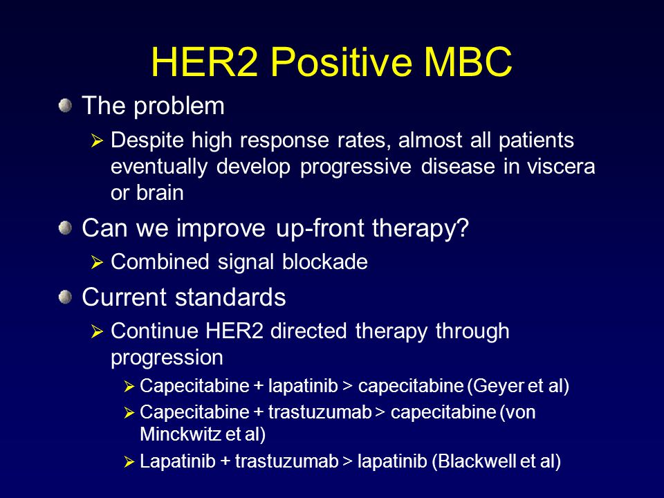 HER2 Positive MBC The problem Can we improve up-front therapy