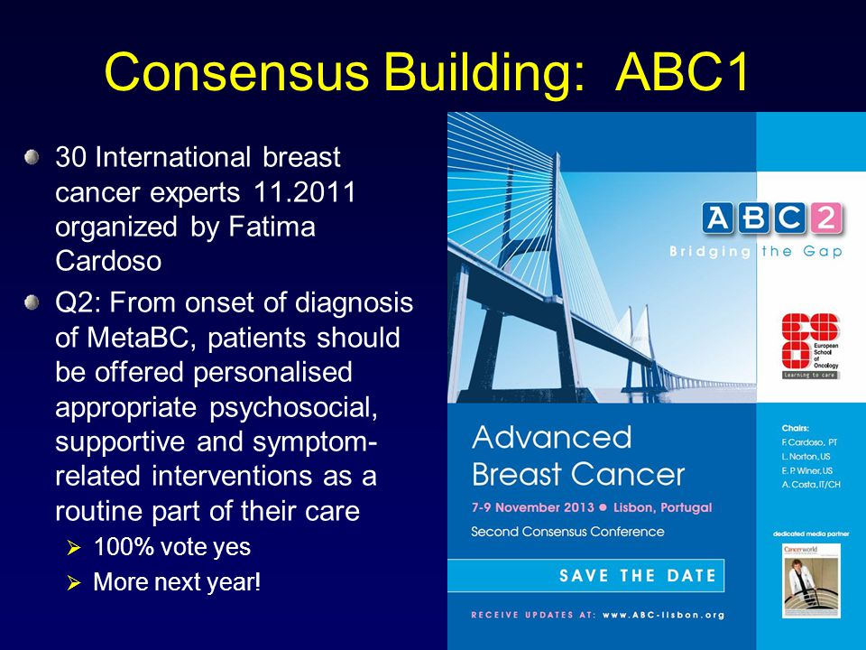 Consensus Building: ABC1
