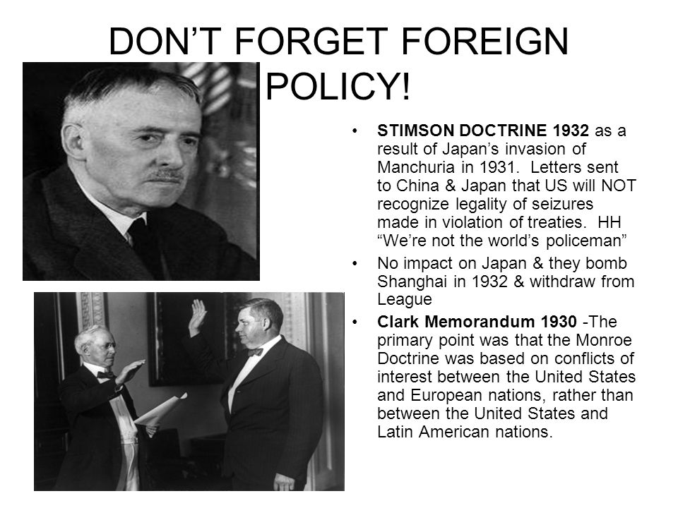 DON'T FORGET FOREIGN POLICY!