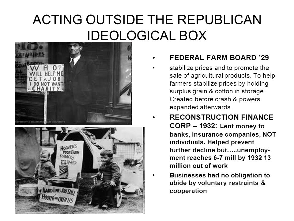 ACTING OUTSIDE THE REPUBLICAN IDEOLOGICAL BOX