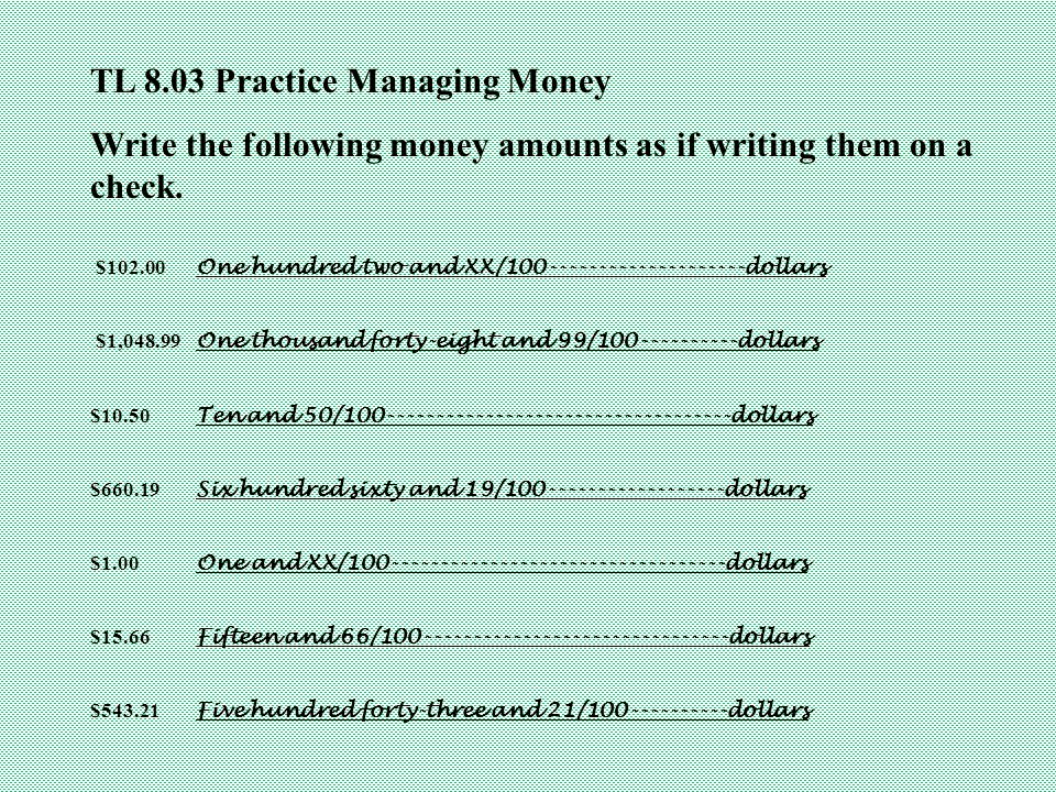 Tl explore ways to manage money ppt download 17 tl ccuart Image collections