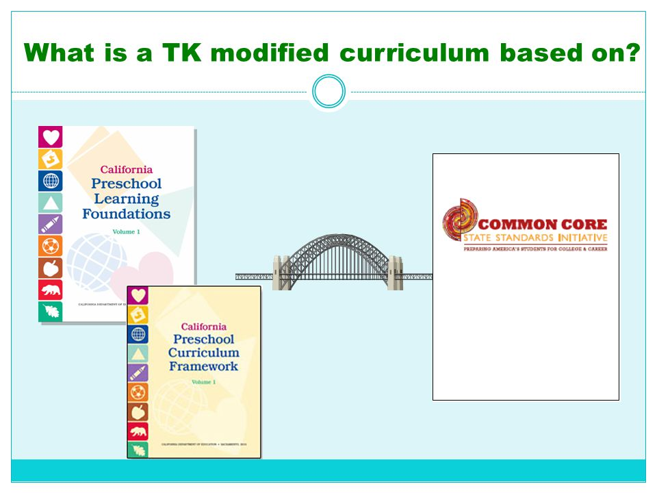 What is a TK modified curriculum based on